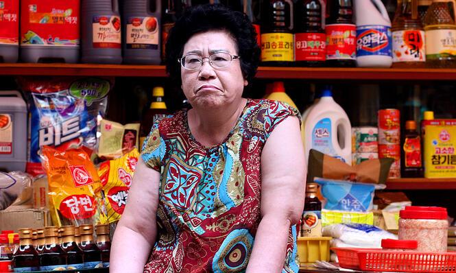Korean market shopping