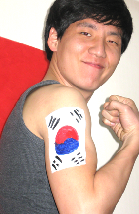 Korean body paint