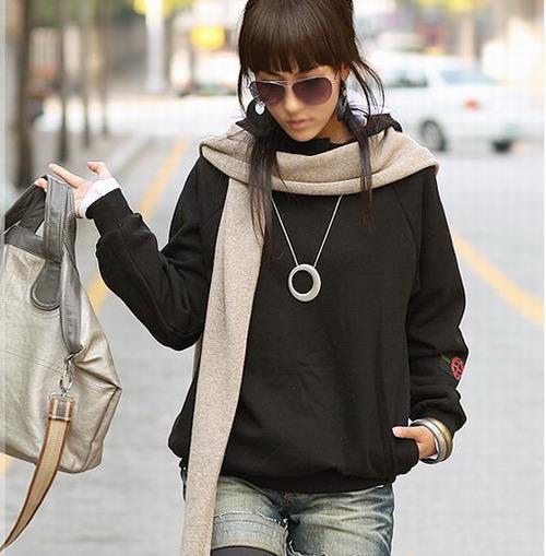 Korean girl wear the scarf trend 2011 for Korean style