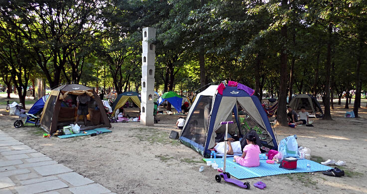 Korean camping