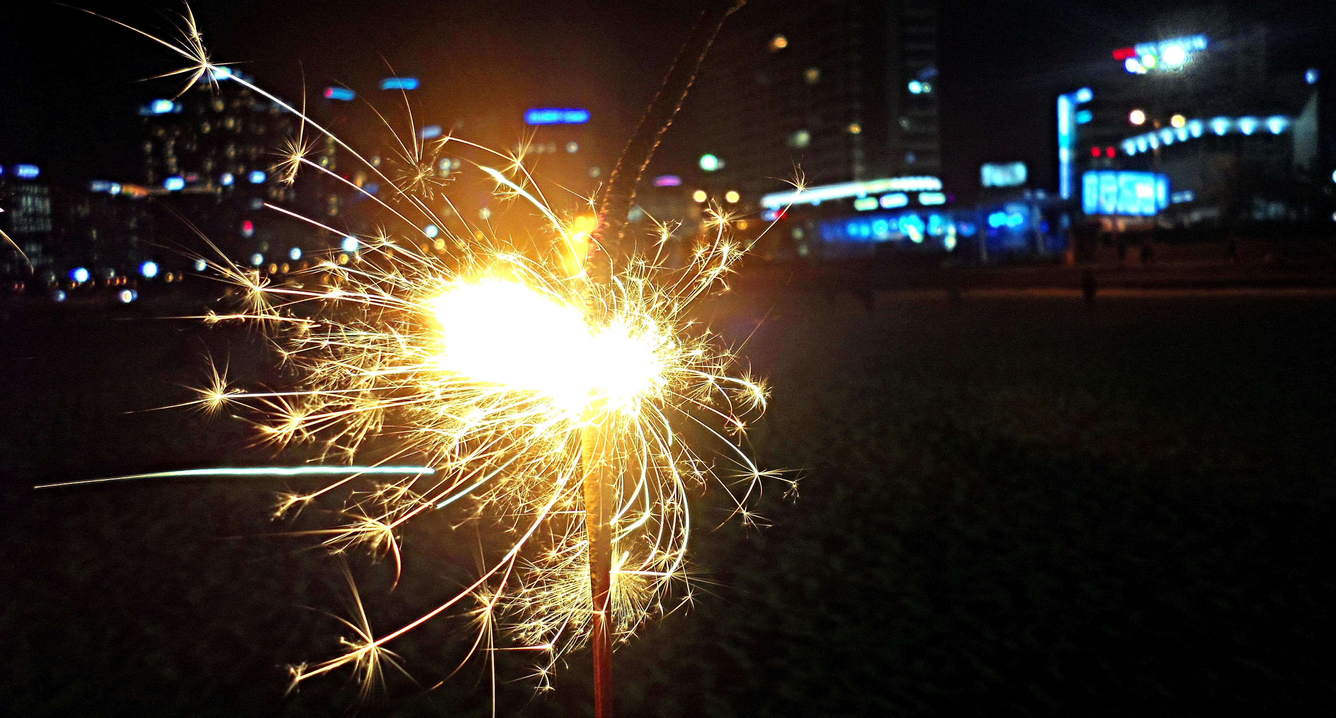 Sparklers on Haeundae