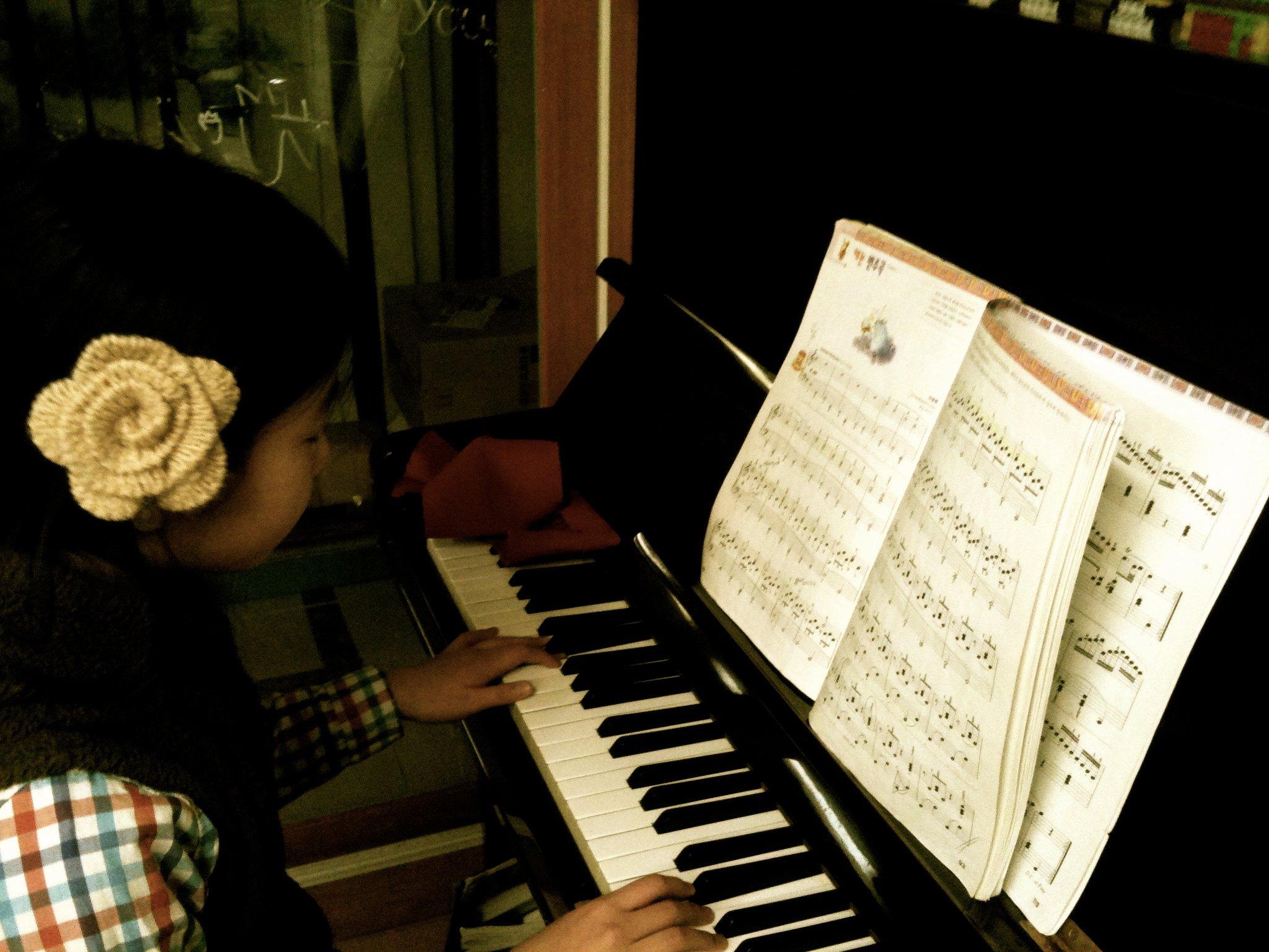 Korean student playing piano