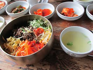 bibimbap, teach and travel, teach aclipse, chungdahm, south korea