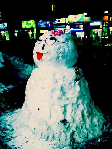 snowman in korea