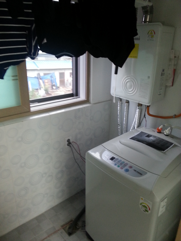 Laundry room while teaching in Korea