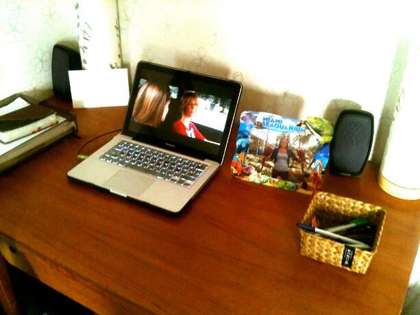 desk in my korean apartment