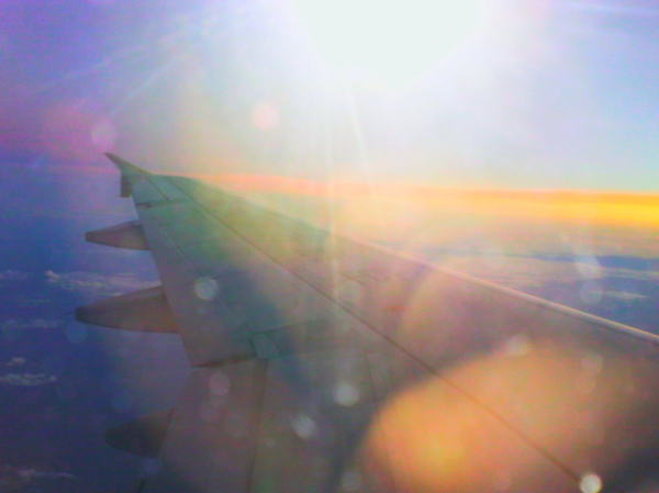 flying to Korea