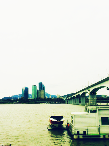 boat ride on the Han river in Seoul