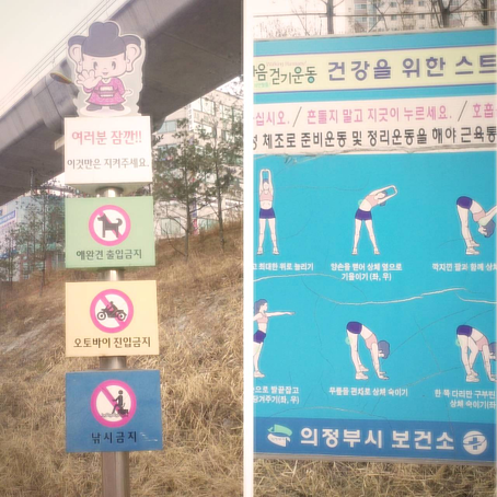 stretching on the Han river in Seoul