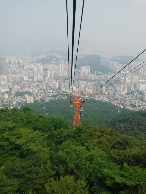 Cable Car Views #park #korea