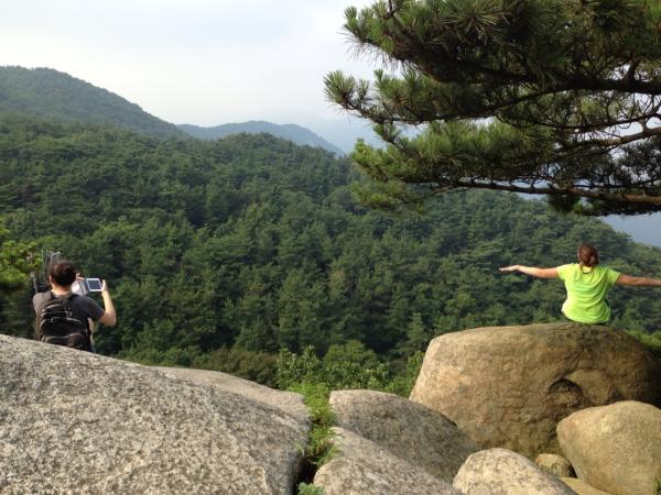 #hiking #korea reaching the top