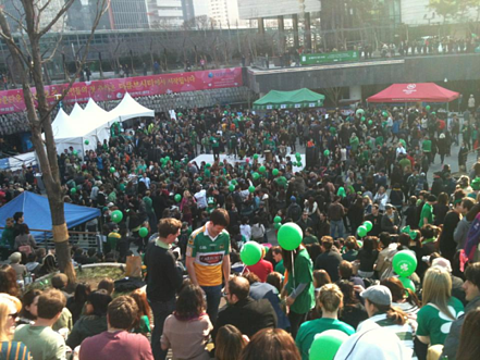 crowd in korea