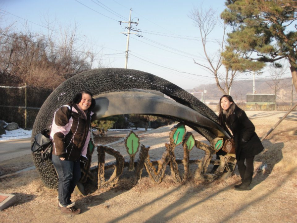 exploring with friends in korea
