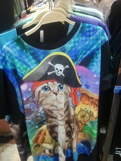 pirate kitty shirt in Korea