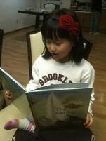 Korean student reading