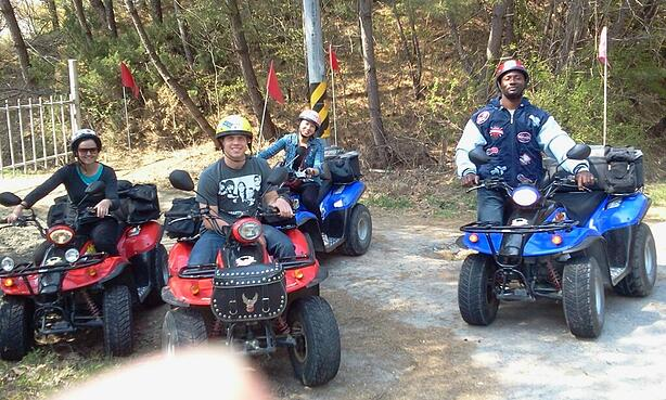 Riding ATVs in Gyeongju Korea