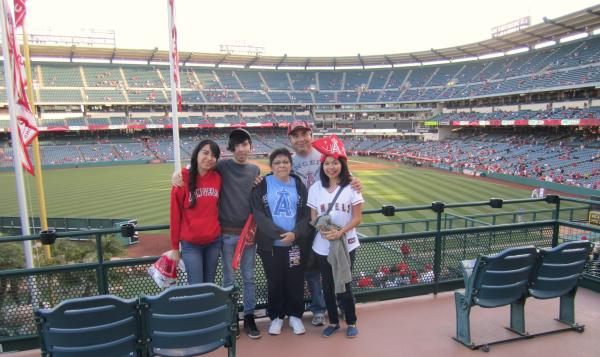 My family and I at Angel Stadium!