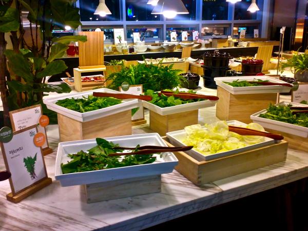 salad at seven springs in Korea