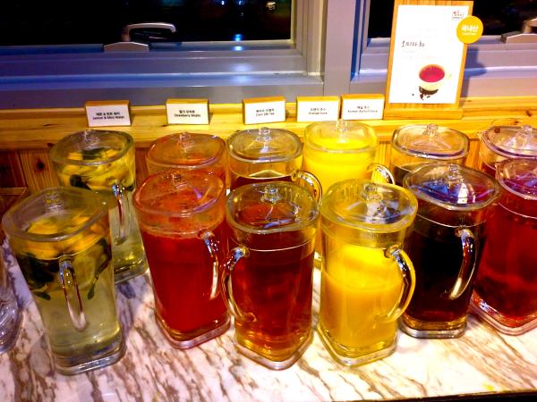 drinks at seven springs in Korea