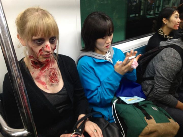 halloween hongdae seoul zombie walk