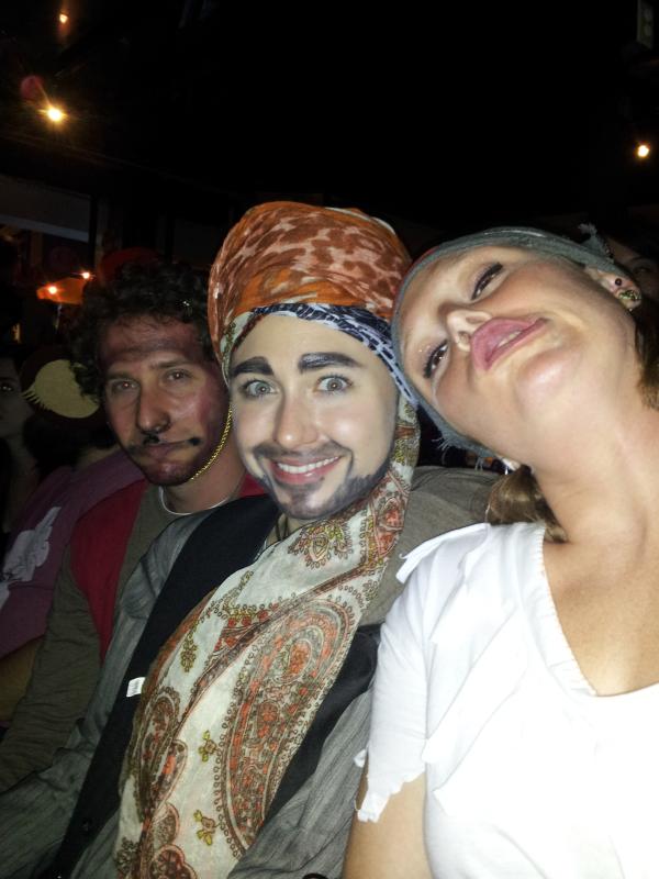 Aladin, Abu, and a pirate