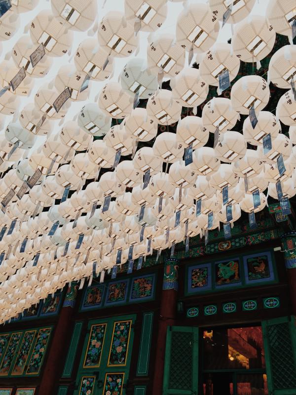 buddha's birthday seoul korea lotus lantern festival