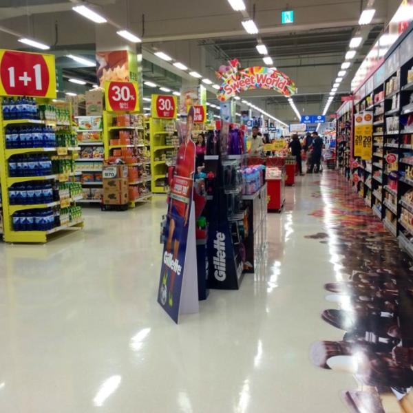 grocery store shopping expat korea