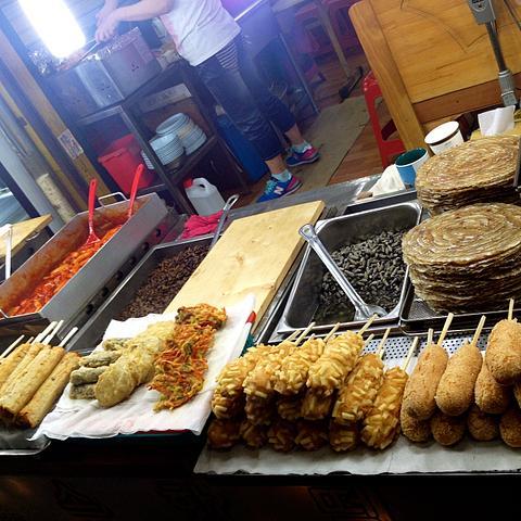 incheon market food street food sinpo