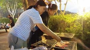 Korean BBQ at Daemyung Resort