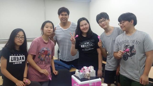 Teaching kids in Korea