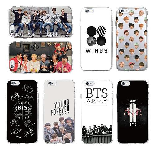 BTS phone covers