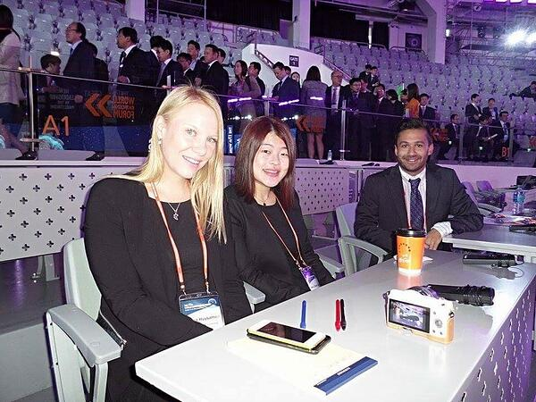 Reporting at World Knowledge Forum in Seoul