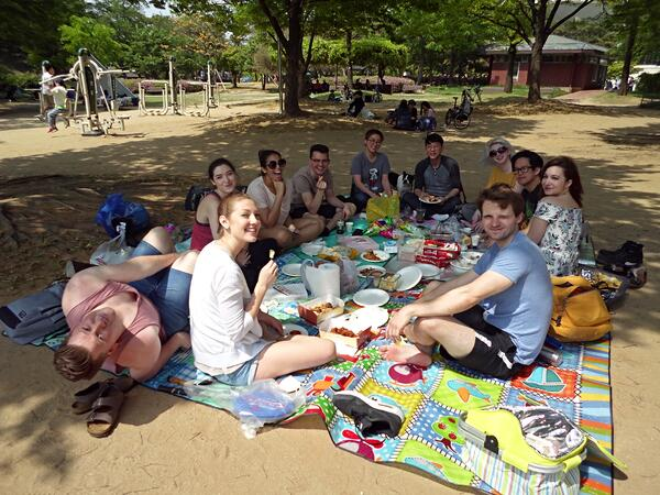 A Spring picnic potluck for our branch employees