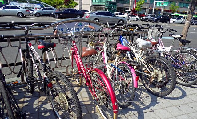 Bikes in all sizes and colors